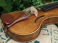 boxwood harp violin tailpiece