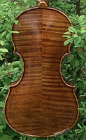 two piece violin/viola flamed maple back