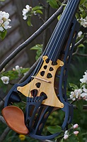 violorama sycorax electric five string violin with yellow top